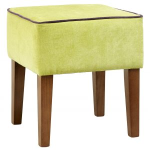 High Square Footstool with Tapered Legs