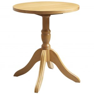 Livonia Small Pedestal Table with Shaped Leg