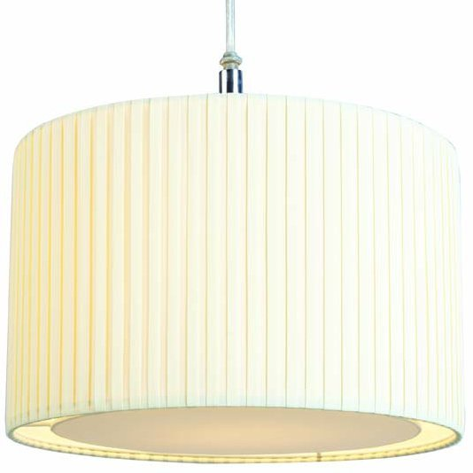 Pleated Pendant Shade with Diffuser