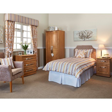 Marcello Bedroom Furniture Package in Gold Scheme