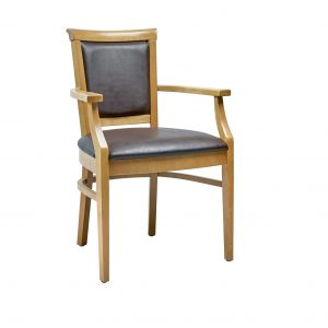 Kalmar Chair in Chestnut Faux Leather